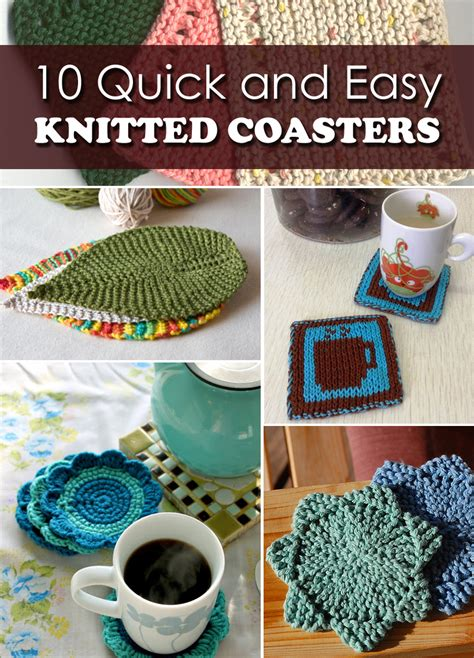 knit coaster pattern 10 and easy knitted coasters