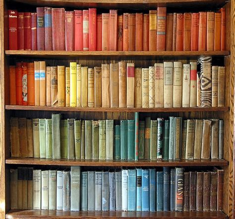 color coordinated bookshelf rainbow bookshelf books pinterest