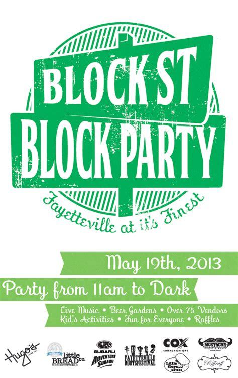 flyer guide 2013 block street block party fayetteville