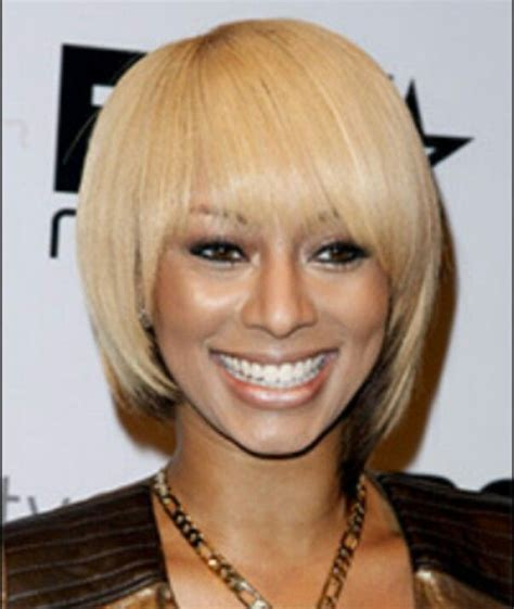 light silky keri hilson straight blonde medium length remy human chinese bang bob hairstyles hair pinterest bobs
