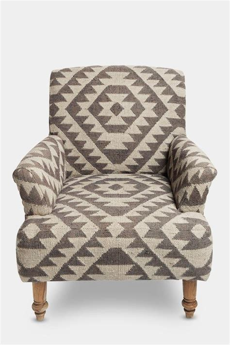 geometric patterned armchair uk odum armchair by nkuku geometric upholstered jute chair