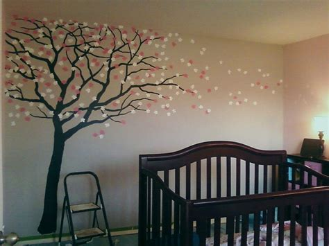 room murals cherry blossom nursery traditional new orleans by mueller s murals studio