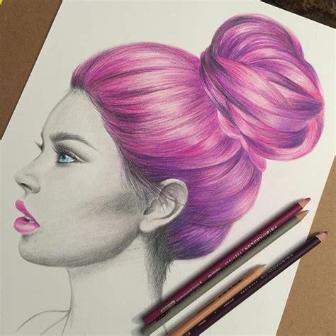 colored pencil hair riola
