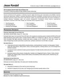 account executive resume exles sle executive