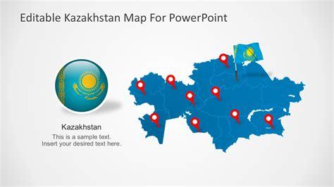 Editable Kazakhstan Powerpoint Map Map Powerpoint Template