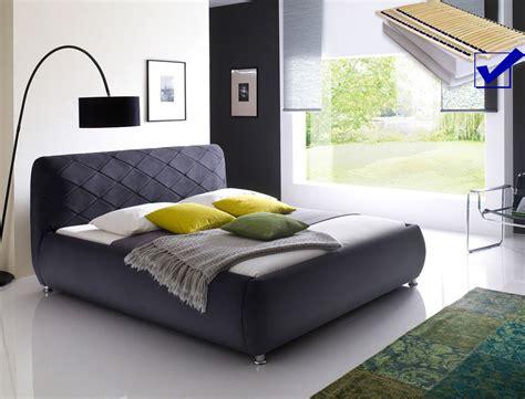 betten mit matratze und lattenrost 180x200 polsterbett antoni bett 180x200 cm anthrazit mit
