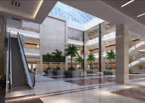 Building Interior Design Office Building Lobby Interior Design With Elevator And Tree
