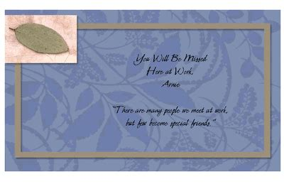You Will Be Missed Cards Printable