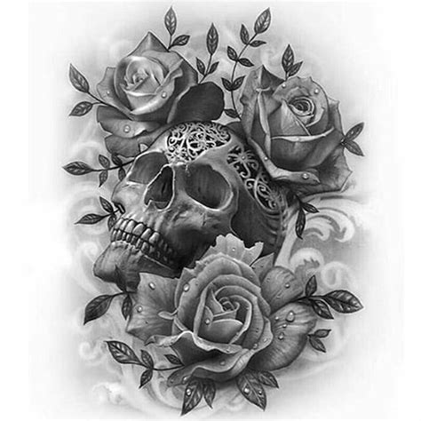 Best 20 Skull Roses Tattoo Ideas On Pinterest Skull | drawn ssckull rose pencil and in color drawn ssckull rose