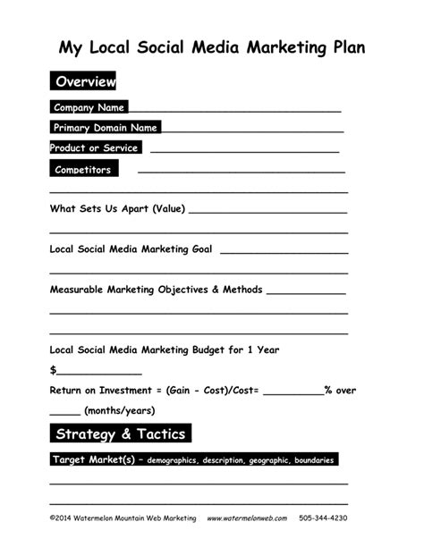 One Page Marketing Plan In Word And Pdf Formats One Page Marketing Plan Template