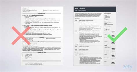 college resume sample monster com