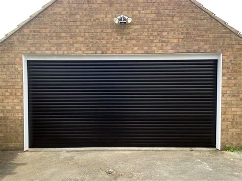Black Roller Garage Door black roller garage door installed in east by