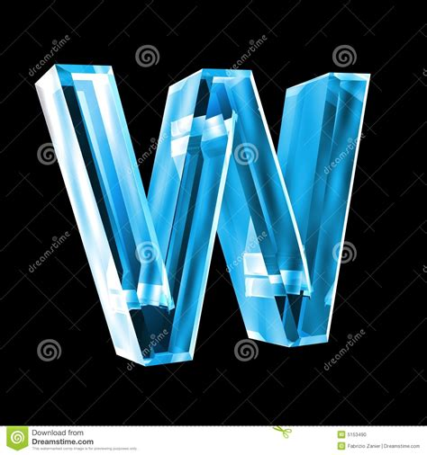 imagenes en 3d en vidrio letra w en el vidrio azul 3d foto de archivo imagen 5153490