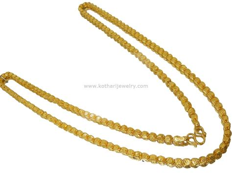 Handmade Gold Chain Designs - nallapusalu ruby emerald chains gold jewellery