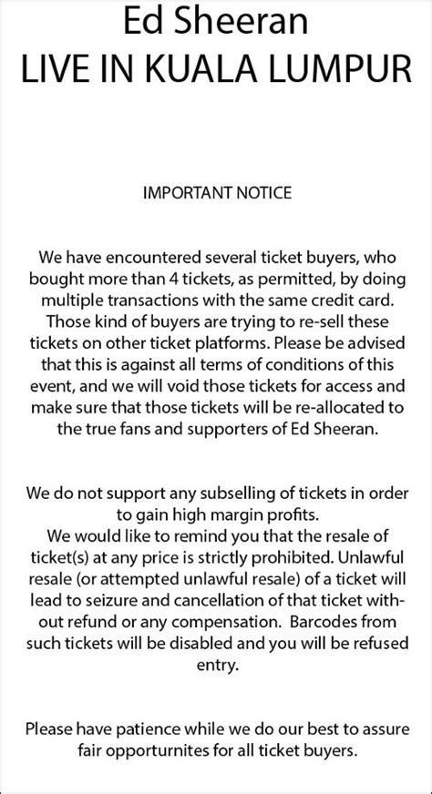 ed sheeran malaysia organiser confirms resold ed sheeran tickets in malaysia
