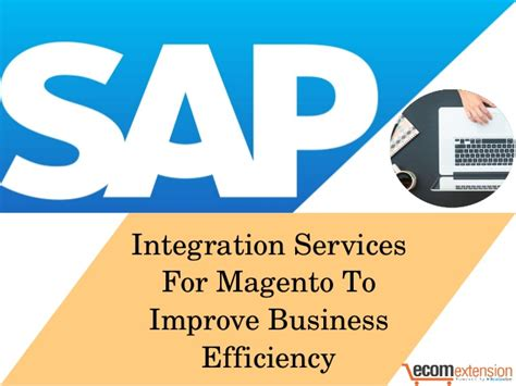 Small Business Efficiency Act sap integration services for magento to improve business