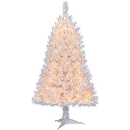 walnart 4 ft pre lit rose tinsel christmas tree time pre lit 4 indiana spruce artificial tree white clear lights walmart