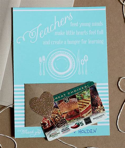 printable restaurant gift cards quot teachers feed young minds quot printable card includes space