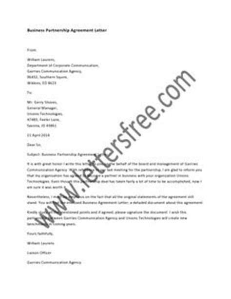 Support Letter For Business Partner 1000 Images About Sle Agreement Letters On Letters Child Support And Business