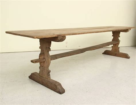 swedish antique refectory pine trestle table 19th century for sale at 1stdibs
