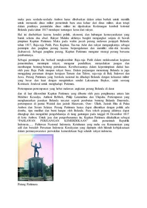 biografi kapitan pattimurah biografi lengkap kapitan pattimura