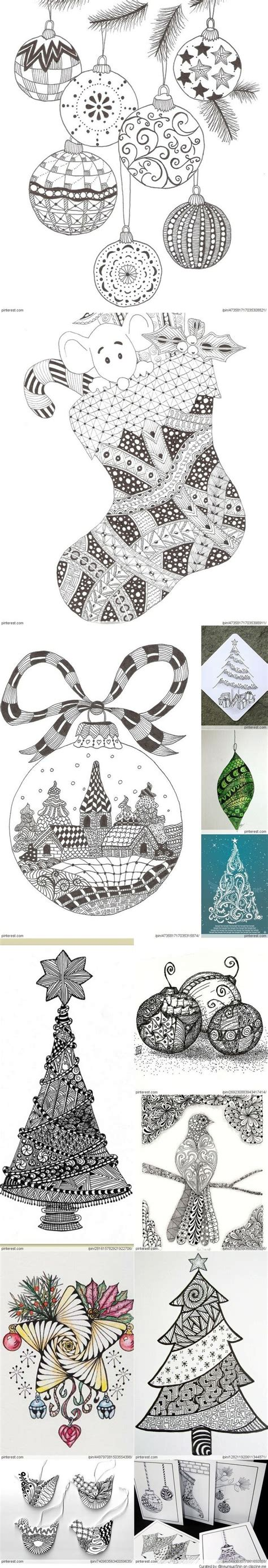 christmas zentangle pattern 17 best images about holiday tangles on pinterest trees
