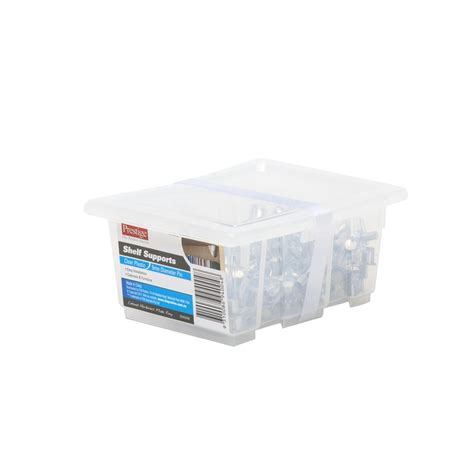 prestige clear plastic shelf supports 100 pack