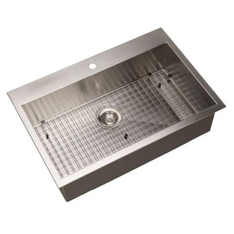 home depot drop in sink houzer bellus series zero radius drop in stainless steel