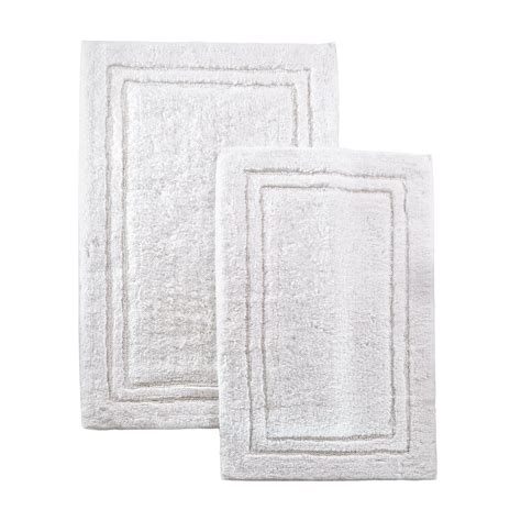 cotton bath rugs with backing 2 luxurious cotton bath rug set with non slip backing 10 colors ebay