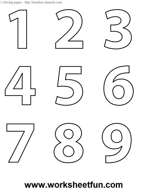 printable coloring pages with numbers coloring pages for numbers 1 9 coloring pages
