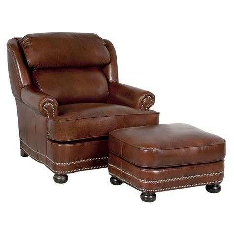 Classic Leather Chair And Ottoman Design Ideas Classic Leather 51 22 Wt And 50 Wt Hamilton Chair And Ottoman Discount Furniture At Hickory Park