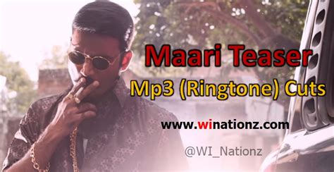 maari theme ringtone maari teaser mp3 cuts ringtones wi nationz