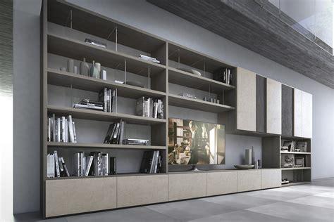presotto industrie mobili parete attrezzata componibile in legno con porta tv pari