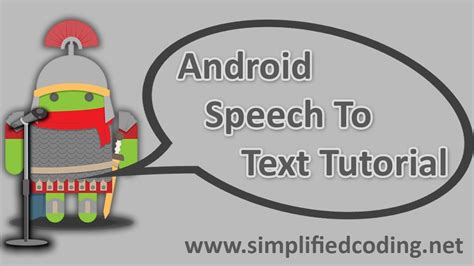 android tutorial text to speech android speech to text tutorial youtube