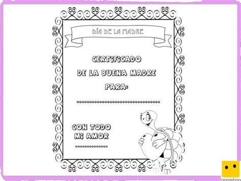diplomas de madre dibujos para colorear diploma d 237 a de la madre