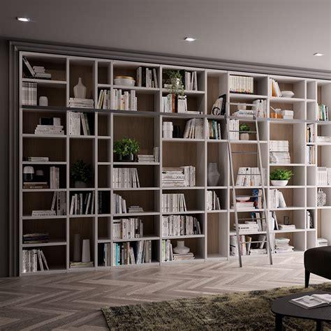 libreria con scala libreria 5 metri con scala gambula arredamenti