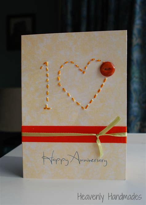 simple printable anniversary cards heavenly handmades simple 10th anniversary card