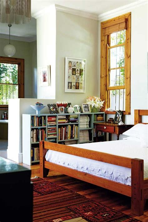 the half wall bookshelf and bedframe matched to size is a
