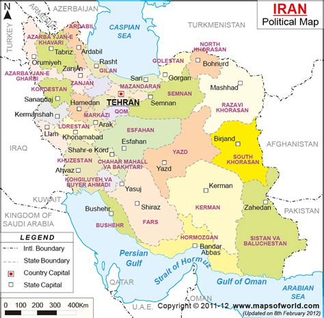 middle east map tehran iran capital map