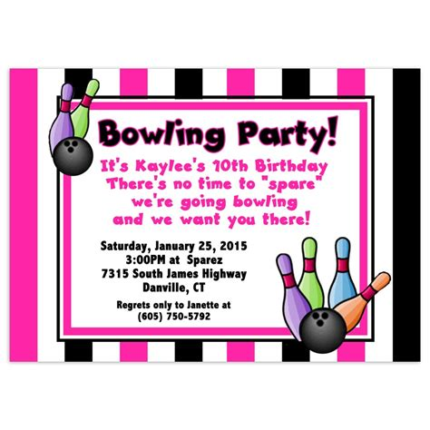 bowling birthday invitation templates bowling invitations gangcraft net