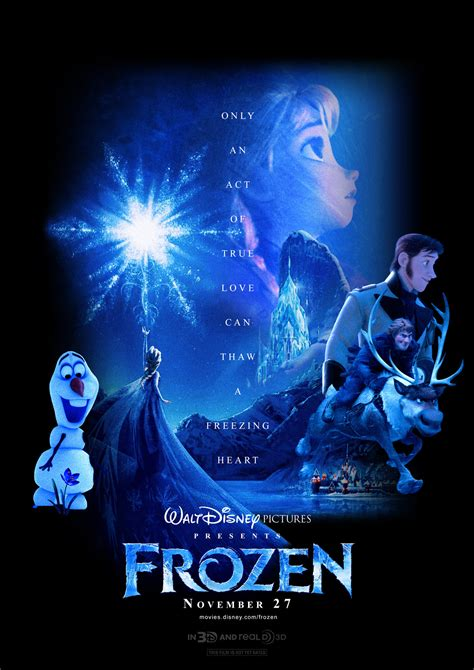 frozen film poster frozen custom made trailer poster by hky91 on deviantart