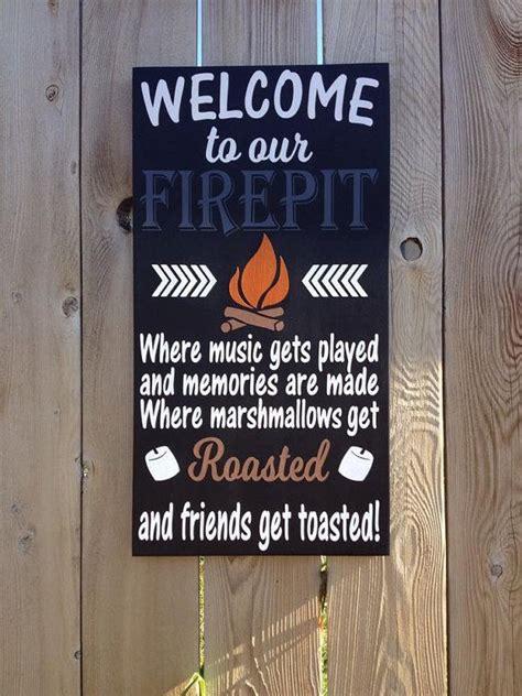 firepit sign campfire sign    firepit
