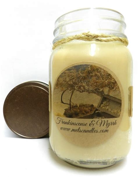 Handmade Candles Wholesale - frankinscense myrrh 16oz country jar soy candle