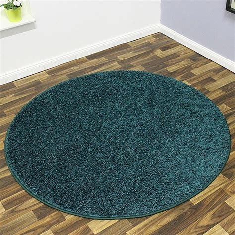 teppich kurzflor petrol shaggy hochflor teppich mistral rund 133cm oder 200cm 216