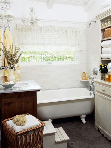 bathroom designs with clawfoot tubs clawfoot tub bathroom design cottage bathroom bhg