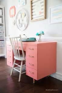 Diy Computer Desk Makeover Chalk Paint Desk Makeover I Nap Time
