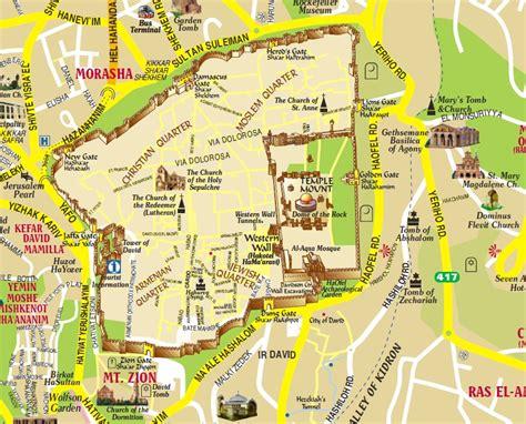 jerusalem city map israel tour