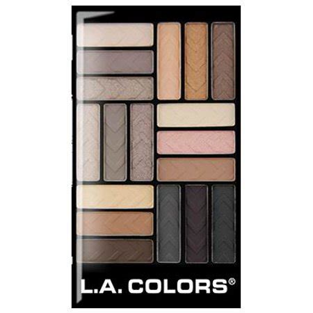 la colors eyeshadow la colors 18 color eyeshadow palette downtown brown