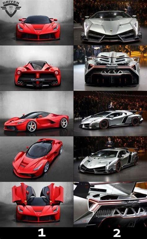 Lamborghini Aventador Vs Veneno Lamborghini Veneno Vs Laferrari To