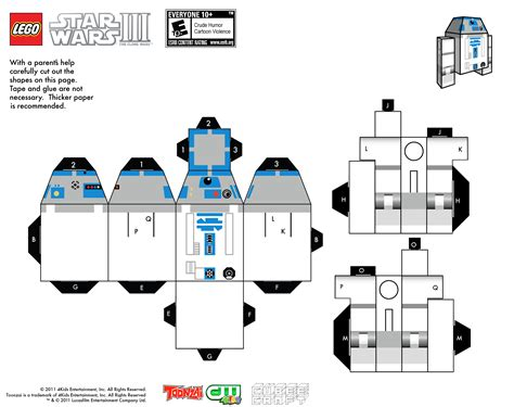 Wars Paper Craft - paper toys paper vador wars